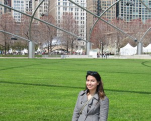 Andrea Minano at the Association of American Geographers (AAG) Annual Meeting in Chicago, Illinois.
