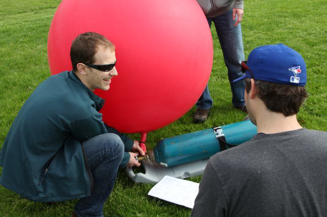 Peter Johnson undertakes the Public Lab of Open Technology and Science (PLOTS, or simply 'Public Lab') balloon mapping technique to test it for future use in a class.