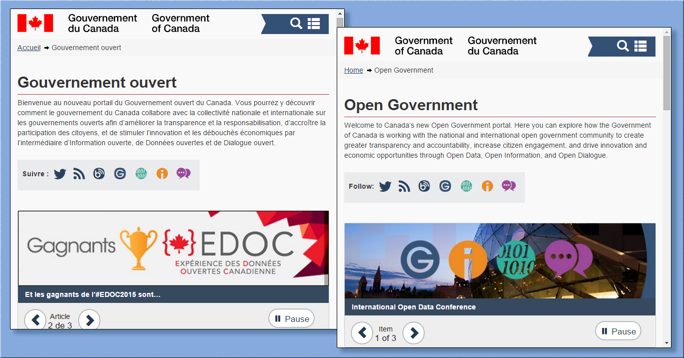screenshotCanadian  open government website